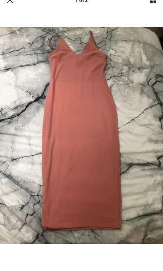 Kookai midi dress pink