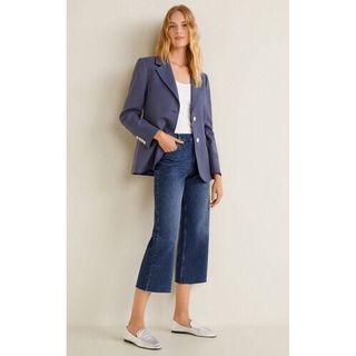 Mango MNG Relaxed Crop Jeans Wide Leg Culotte