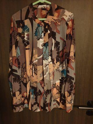 Authentic Reiss printed blouse