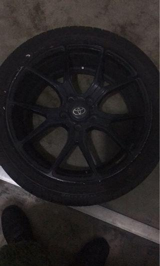 "18"" rims with tyres for sale"