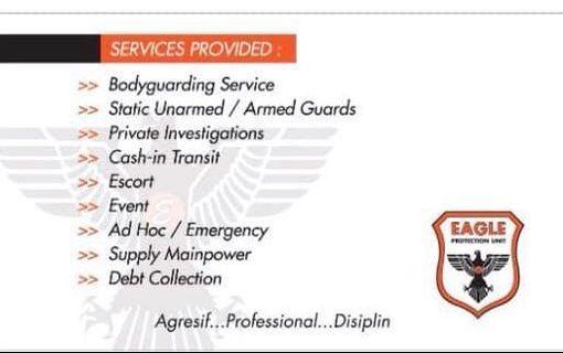 Security , Bodyguard, Escourt , Debt collection