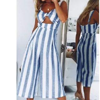 Stripped JumpSuit (size 10)