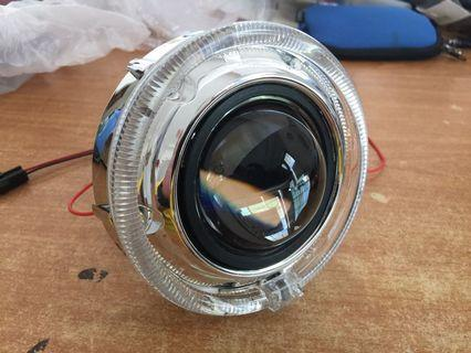 "2.5"" Projector Headlamp with Magic Ring cover & Hid 6K"