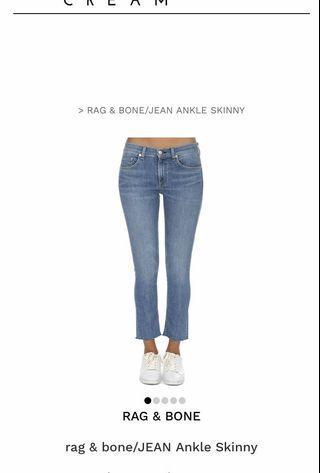 Rag&bone ankle skinny jeans 27