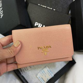 CLEARANCE SALE: Authentic Prada Saffiano Flap Card Holder Wallet