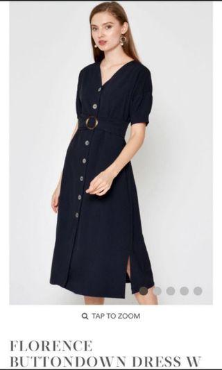 Love and Bravery Florence Button Down Dress with Sash