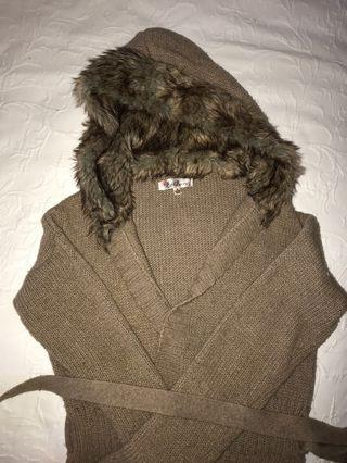 Faux fur cardigan jumper inc. postage