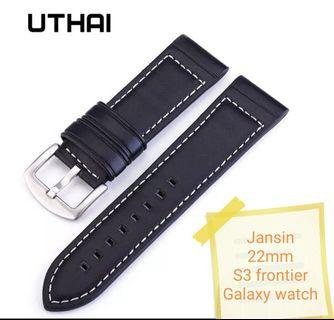 🚚 [Instock] Samsung galaxy watch leather strap / 22mm strap by jansin