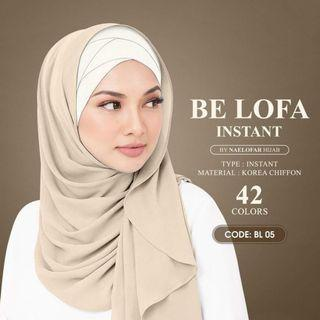 Naelofar be lofa instant shawl with inner