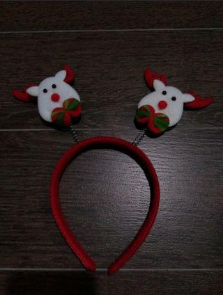 Preloved Christmas Xmas Reindeer Hairband Headband
