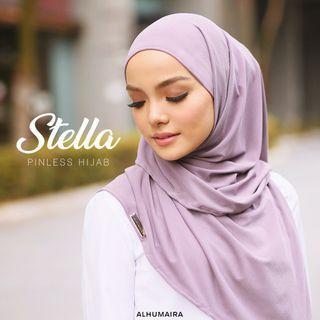 READY STOCK❗️Stella pinless hijab alhumaira