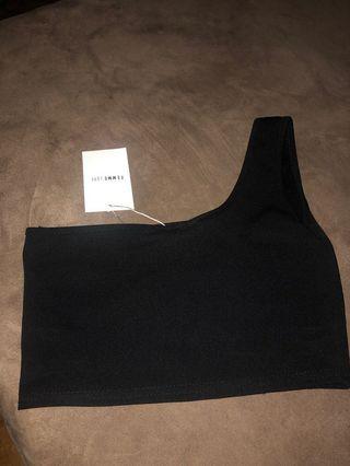 BNWT One shoulder crop top