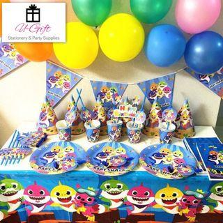 [PS]10 sets Baby Shark Theme Party Supplies for 10 pax