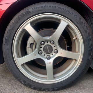 Honda Civic FD1 front Stock Calipers + Rotors