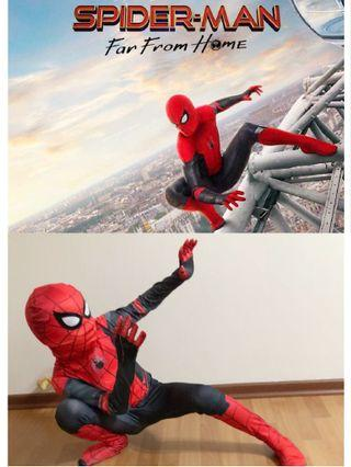 NEW! Preorder Adult / Kids Spider Man Far From Home Cosplay Costumes Spiderman Jumpsuits