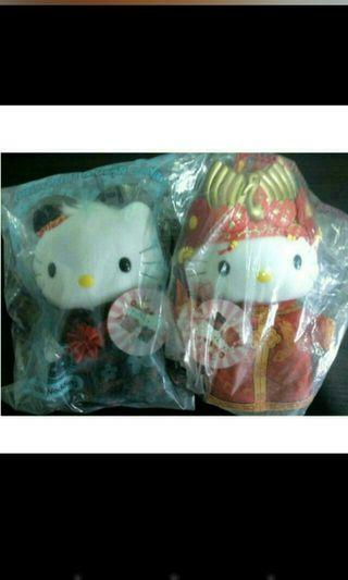 brand new hello kitty chinese wedding plush toy