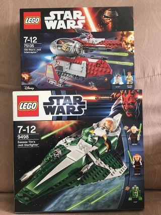 Lego Star Wars 9498 and 75135