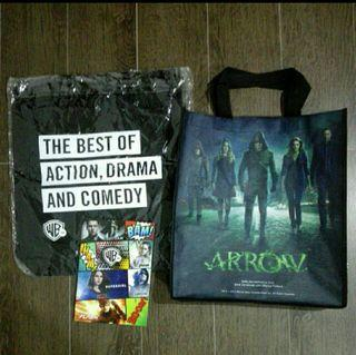 Brand new Warner TV Arrow Movie collectibles