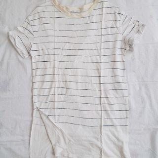 Zara White Stripped Top
