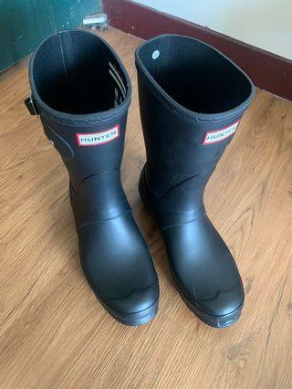 🚚 二手Hunter 半高筒雨靴