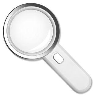 #947) Fancii LED Magnifying Glass with Light, 5X High Power Glass Lens - Large 3.5 Inches
