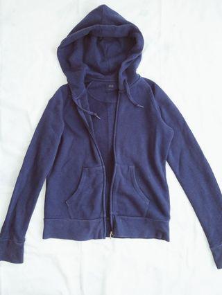 Uniqlo Zip Hoodie Navy Blue