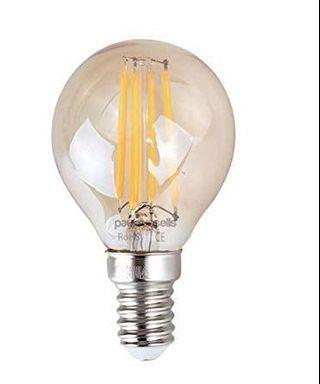 🚚 (E2757) 3 X Vintage Style Small Edison Screw LED Filament Amber Retro Bronze Bulbs 4W Antique Golf Light Decorate Home G45 Small Globe Round 360 Beam Angle Lamp E14 SES 2200K Warm White 40W [Energy Class A+]