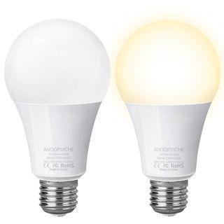 #402 Anoopsyche Smart Bulb 2 pack Dimmable 2700K-6500K 60W