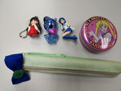 美少女戰士sailormoon 鎖匙扣,拉鍊袋, 香珠樽,鐵盒連紙仔