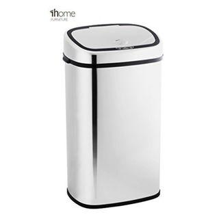 t426  1home 58L Stainless Silver Steel Automatic Sensor Touchless Waste Bin by 1home