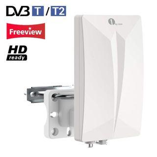 🚚 #411 1byone Indoor/Outdoor TV Antenna, Digital TV Aerial