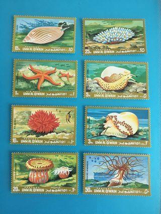 外國郵票—中東地區國家海洋生物