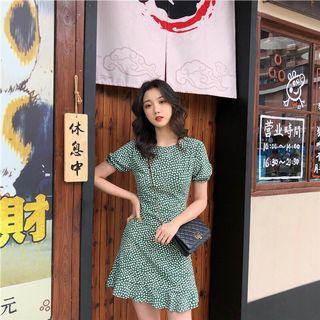 🚚 Green Floral Dress