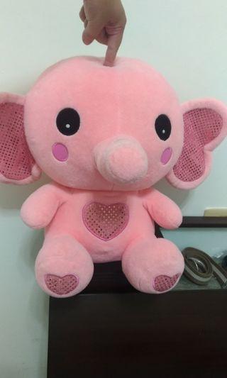 🚚 娃娃 小象 絨毛 粉紅色 中型娃娃