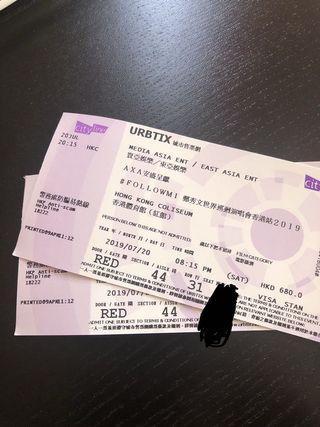平讓 Sammi 鄭秀文世界巡迴演唱會 20/7 $680 最後兩張