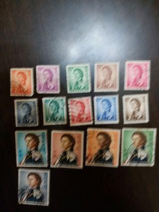 女皇伊利沙伯二世通用郵票第二輯全套
