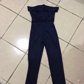 Navy Long Jumpsuit Kuki Korea Brand