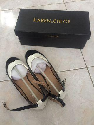 Karen & Chloe black and white shoes