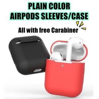 AIRPOD CASING/ SLEEVES FOR BOTH VER 1 & 2 (12 COLORS)
