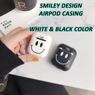 AIRPOD SMILEY CASING FOR BOTH VER 1 & 2 (2 COLORS)