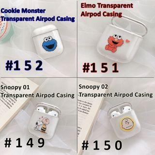 SESAME STREET/SNOOPY AIRPOD CASING FOR BOTH VER 1 & 2