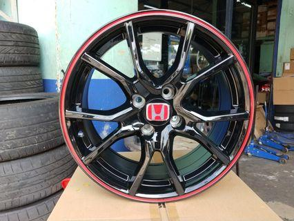 New sport rim 16 inch type r city jazz fit