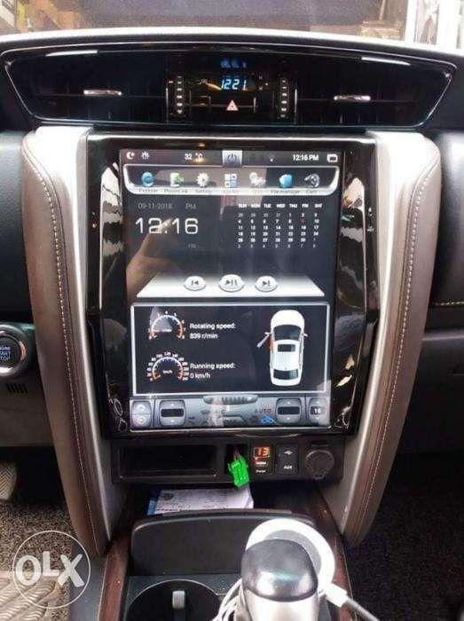 Montero sport tesla 12 big screen Android LCD waze spotify