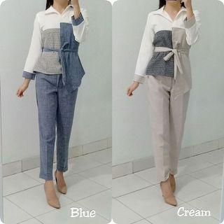 Zara set tartan