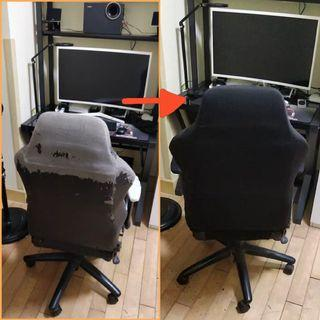 🆕 SEAT COVER for Gaming Chair - Comfortable, Smooth, Protective Fabric Slipcover. Machine Washable. Fits well on Secret Lab / Dx Racer / Other Gaming Chair.