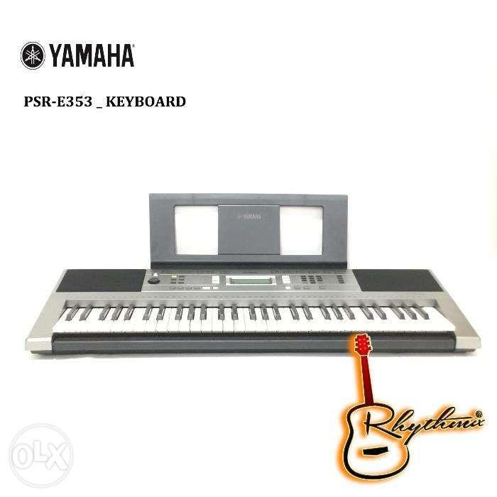 Yamaha PSR E353 Keyboard 61 Keys Brand New On Sale Rhythmix