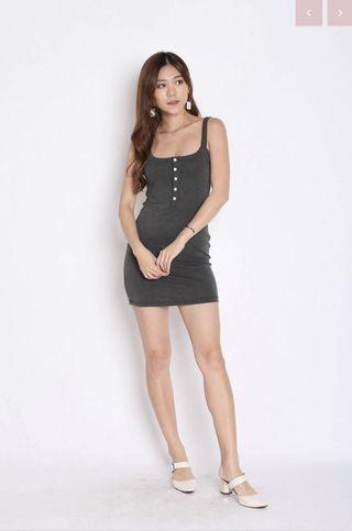 Topazette Frans Button Cotton Dress