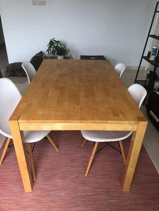Eames Dining chairs plus dining table