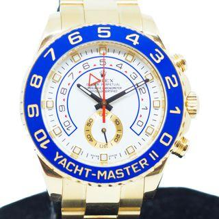 Preowned Rolex Yachtmaster II in 18K Yellow Gold