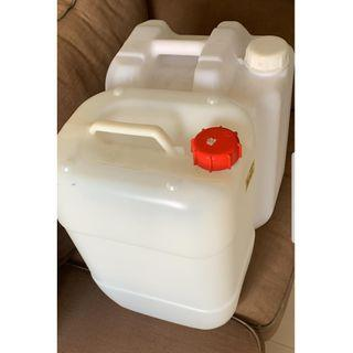 2 x 18L Plastic Water Butt Container